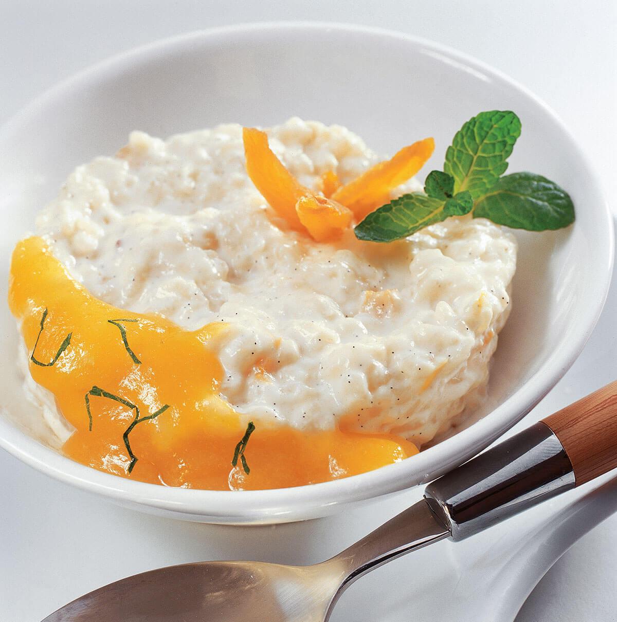 gateau de riz coulis d'abricot